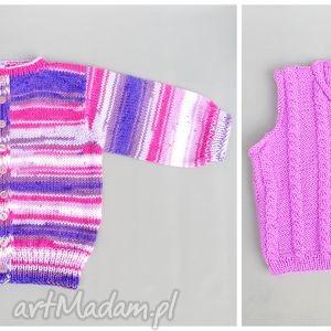 zamówienie p agnieszki, kamizelka, sweterek, dziecko, dziewzynka, prezent