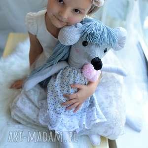 hand made maskotki przytulanka dziecięca myszka w sukience