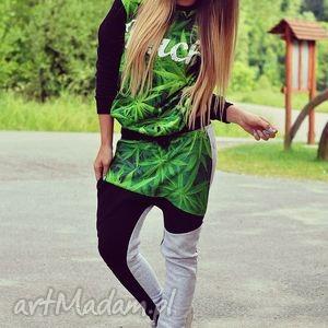 handmade sportowe modny dres z nadrukiem 3d buch marihuana trawka