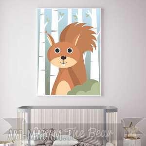 pokoik dziecka plakat dla dzieci wiewiórka a4, wiewiórka, las, zwierzęta