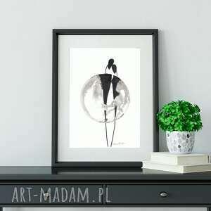 grafika a4 wykonana ręcznie, abstrakcja, obraz do salonu, 2621466