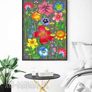 Kwiaty 50x70cm, plakat, kwiaty, kwiat, obraz, sztuka
