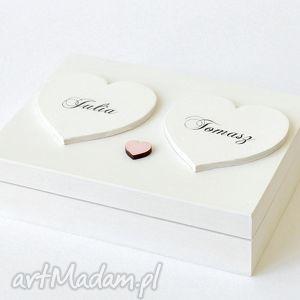 Prezent Pudełko na obrączki ślubne Romantyczne, pudełka-na-obrączki, ślub,