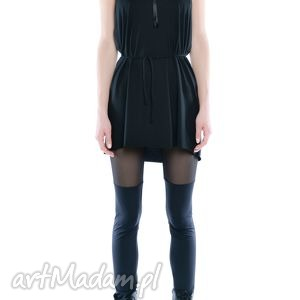 milita nikonorov leggisny - dwie czernie tiul i jersey, elastyczne, czarne