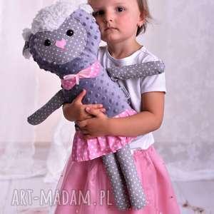 Prezent Przytulanka dziecięca owieczka, poduszka-owieczka, przytulanka-minky