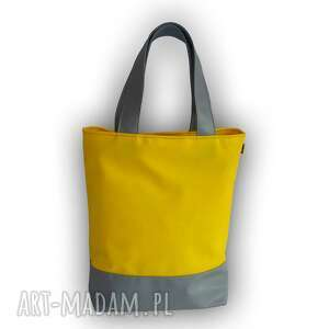 Torba trip - duża, na ramię, żółto szara ramię totostyle