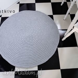 okrągły dywan o średnicy 110 cm, dywan, carpet, sznurek, rękodzieło, decor