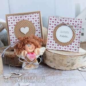 aniołek miłości personalizowana mini kartka, pudełeczko, miłość, dla niej, 14