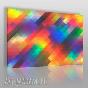 obraz na płótnie - kolory barwy trójkąty 120x80 cm 83901, trójkąty, kolorowy