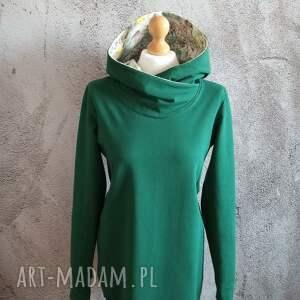 dresowa sukienka/tunika s/m, bawełnana bluza, tunika, bluza damska