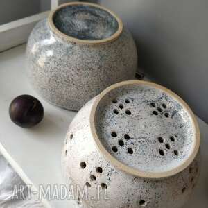handmade ceramika durszlak i miska ceramiczne