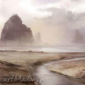 obraz - skały płótno malowany, pejzaż, krajobraz, obraz, płótno, krajobraz
