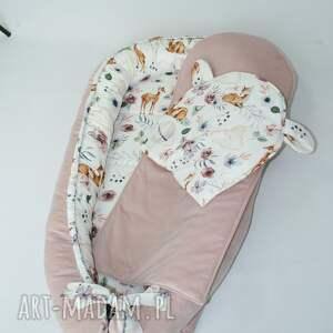 ręczne wykonanie pokoik dziecka kokon niemowlęcy leśni przyjaciele