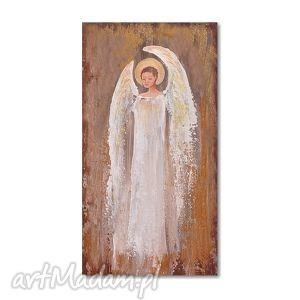 anioł, obraz ręcznie malowany, obraz, ręcznie, ślub