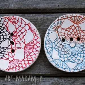 ceramiczna mydelniczka okrągła koronkowa, mydelniczla, łazienka, homedecor
