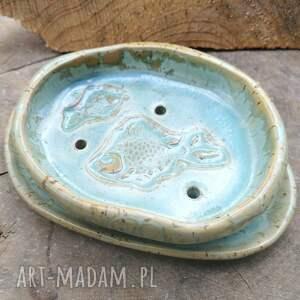 ceramiczna mydelniczka z podstawką c191, mydelniczka, ceramika, podstawka