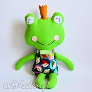 żabka - książę w krasnoludki, żabka, książę, zabawka, szmacianka