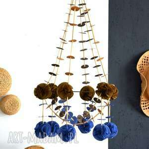 dekoracja pająk, łapacz, wianek, pompon, ludowy, folk, wyjątkowy prezent