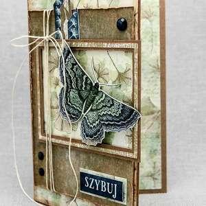 ręcznie zrobione scrapbooking kartki vintage kartka z motylem