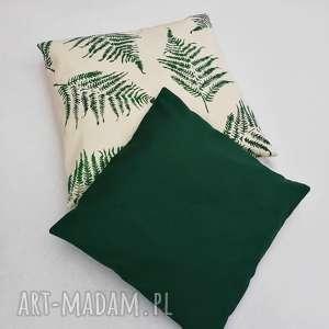 ręcznie zrobione poduszki poszewka butelkowa zieleń 40x40