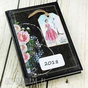 notesy kalendarz książkowy - różana pracownia, kalendarz, terminarz, 2018