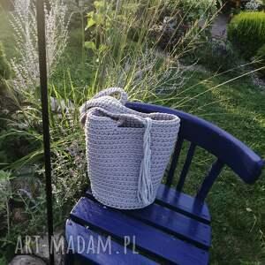 torba na ramię ze sznurka bawełnianego 23cmx30cm, torebka shopper