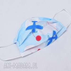 maseczka maska dwuwarstwowa kosmetyczna bawełniana streetwear na twarz dziecięca