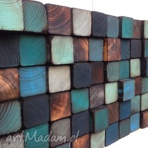 dom mozaika drewniana na zamówienie, mozaika, obraz, ściana, drewniany, ozdoba