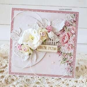 vairatka-handmade serdeczne życzenia - kartka w pudełku 592 - imieniny
