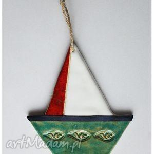ceramika łódeczka, łódka, ceramika, zawieszka