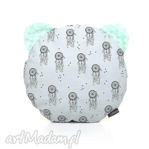 ręcznie wykonane dla dziecka poduszka podusia miś łapacze snów / mięta