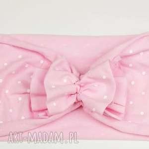 bukiet-pasji opaska turban jesień różowa opaska - różowy