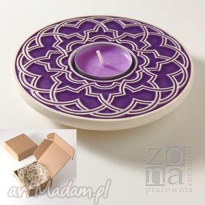 pracowniazona lampion geometryczny fioletowy opakowanie prezentowe