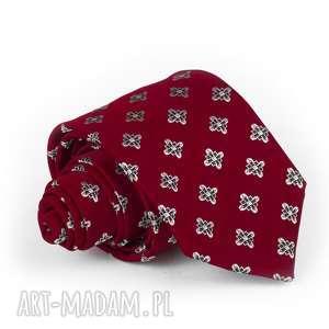 krwat męski czerwony elegancki, krawat, prezent, mucha, pasek, szalik, szal