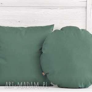 handmade poduszki komplet poduszek dekoracyjnych 40x40cm zielone - 2 sztuki