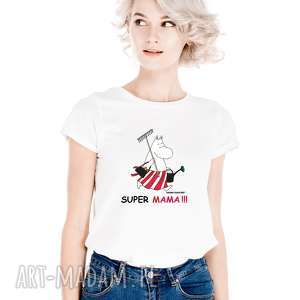 licencjonowana koszulka damska muminki dla mamy super mama prezent