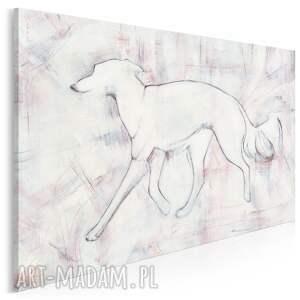 obraz na płótnie - pies chart zwierzę 120x80 cm 702101, pies, chart