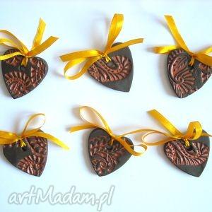 handmade pomysł na świąteczny upominek zawieszki ceramiczne choinkę