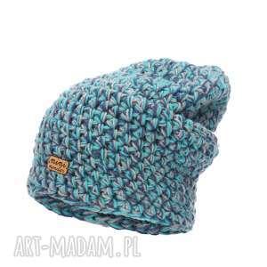 Czapka Hand Made No. 049 / beanie szydło, czapka-wełnina, czapka-narciarska