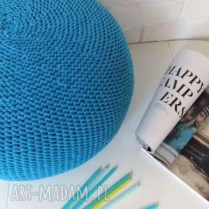 Pufka SCANDI 30x50cm, ściągany pokrowiec- TURKUS/LAZUR, pufka, dziecięca, niebieska