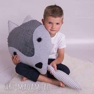 poduszka dziecięca wilk, minky, maskotka, dekoracja