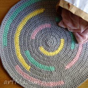 chodnik ovale candy Śr 80 cm - bawełna, handmade, pokój, dywan
