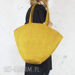 shelly bag musztardowa torba w kształcie koszyka, żółta, koszyk, miejska