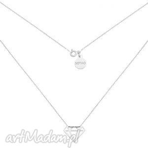 ręcznie robione naszyjniki srebrny naszyjnik z diamentem