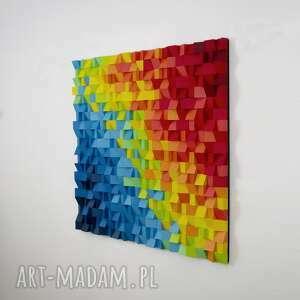 "Mozaika drewniana, obraz 3d ""papuga nr 3"" na zamówienie"