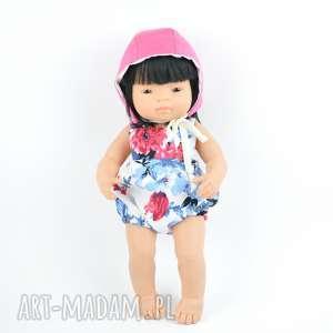 lalki romper na szelkach miniland bonetka, lalki, miniland, ubranka, dlalalek