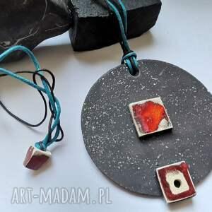 ręcznie robione naszyjniki naszyjnik ceramiczny duży malowany polecam