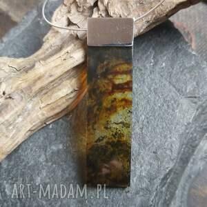 naszyjniki naszyjnik z bursztynowym wisiorem, bursztyn bałtycki, kolia