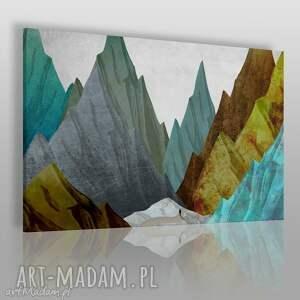 obraz na płótnie - góry szczyty abstrakcja 120x80 cm 42401 , góry