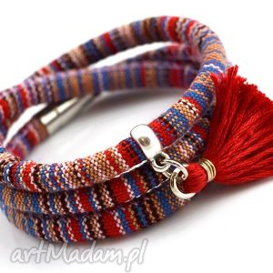 handmade bransoletka boho magnetoos masayee z chwostem